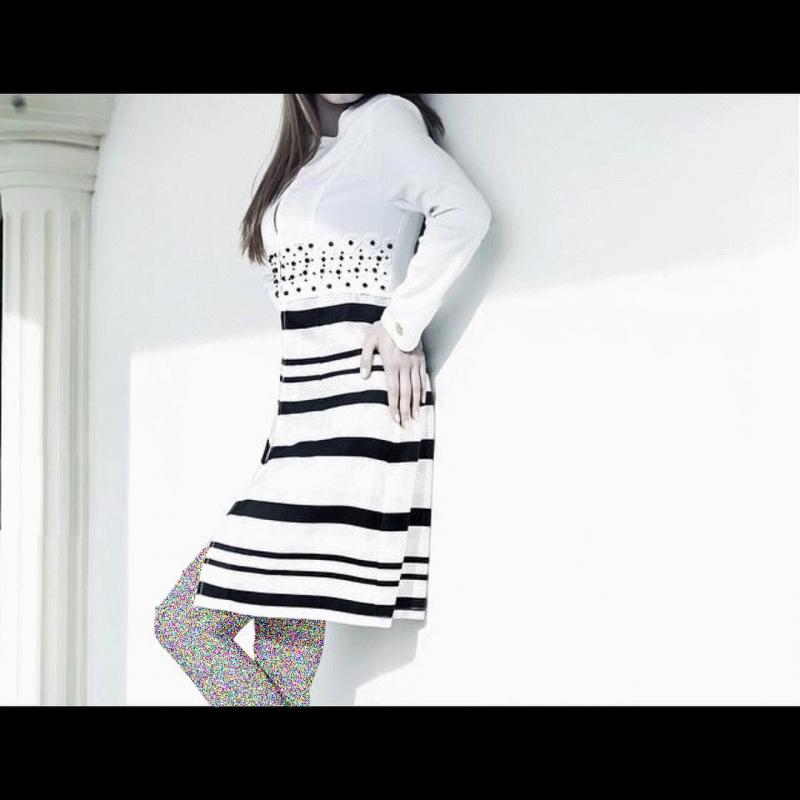 مدل مانتوی سفید مشکی