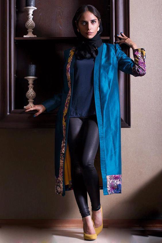 مدل مانتوی اسپرت ساتنی