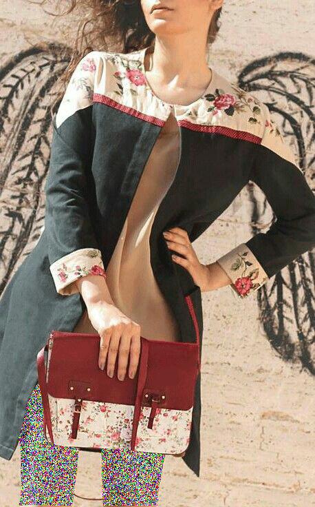 مدل مانتوی جلوباز اسپرت