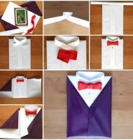 آموزش گام به گام تزیین کادو به شکل پیراهن