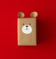 تزیین جعبه کادویی به شکل خرس