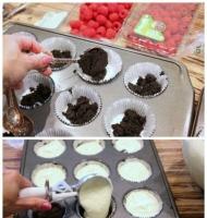 آموزش گام به گام کاپ کیک تمشکی - آشپزی مامانم