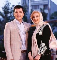 کوروش تهامی و همسرش در جشنواره حافظ