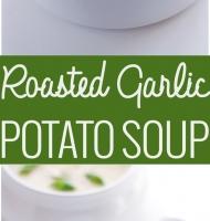 سوپ سیب زمینی و سیر بوداده