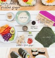 آموزش گام به گام تهیه رول سوشی