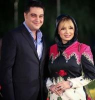 عکس عاشقانه نیوشا و آرش در جشنواره حافظ
