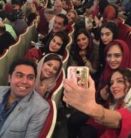 سلفی هنرمندان در جشنواره حافظ
