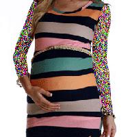 لباس بارداری راه راه رنگی