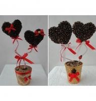 ساخت گلدان های تزیینی با قهوه