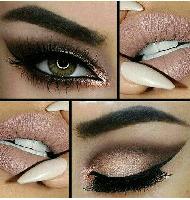 مدل آرایش لب و چشم