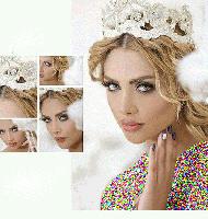 مدل آرایش عروس بلوند