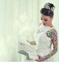مدل شینیون فوق العاده زیبای عروس