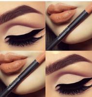 مدل آرایش فوق العاده چشم و لب