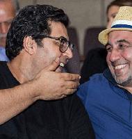 رضا عطاران و فرهاد اصلانی در اکران خصوصی فیلم آبنبات چوبی